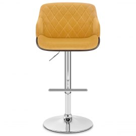 Dakota Bar Stool Mustard Velvet