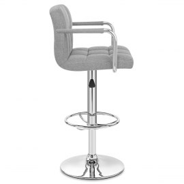 Maze Bar Stool Grey Fabric