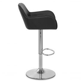 Berlin Brushed Bar Stool Black