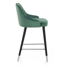 Glam Bar Stool Green Velvet