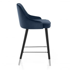Glam Bar Stool Blue Velvet