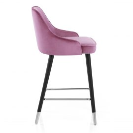 Glam Bar Stool Purple Velvet