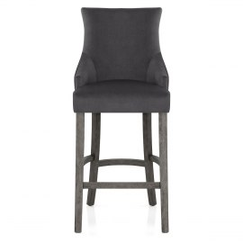 Richmond Grey Oak Stool Charcoal Fabric