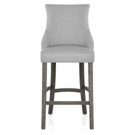 Richmond Grey Oak Stool Grey Fabric