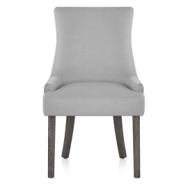 Richmond Grey Oak Chair Grey Fabric