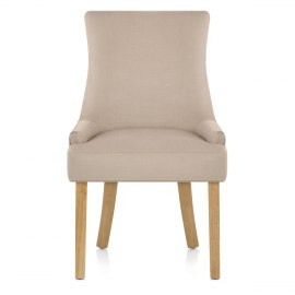 Richmond Oak Dining Chair Beige Fabric