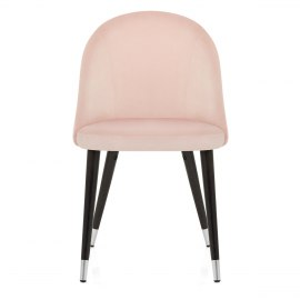Polo Dining Chair Pink Velvet