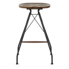 Nest Industrial Stool Dark Wood