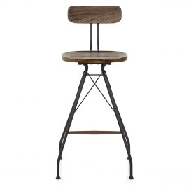 Crane Industrial Stool Dark Wood
