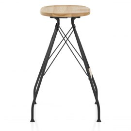 Nest Industrial Stool Light Wood