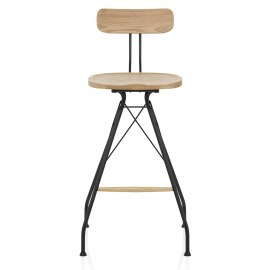 Crane Industrial Stool Light Wood