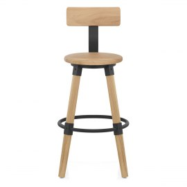 Troy Wooden Bar Stool