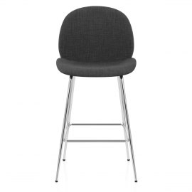 Bella Bar Stool Charcoal Fabric