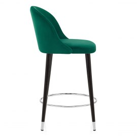 Polo Bar Stool Green Velvet