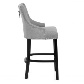 Ascot Bar Stool Grey Fabric