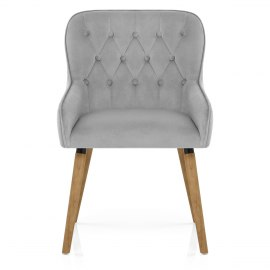 Vienna Dining Chair Grey Velvet