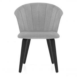 Scroll Dining Chair Grey Velvet