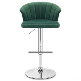 Symphony Bar Stool Green Velvet