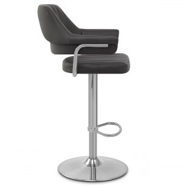 Skyline Brushed Bar Stool Black