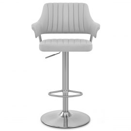 Skyline Brushed Bar Stool Grey