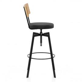 Urban Oak Industrial Stool Black