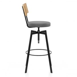 Urban Oak Industrial Stool Grey