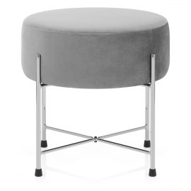 Minuet Stool Grey Velvet