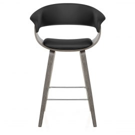 Alexis Wooden Stool Black
