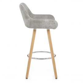 Solo Wooden Stool Antique Grey