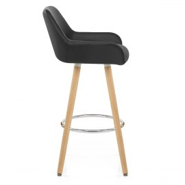 Solo Wooden Bar Stool Black