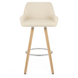 Solo Wooden Bar Stool Cream