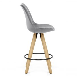 Prism Bar Stool Grey Velvet