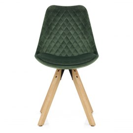 Prism Dining Chair Green Velvet