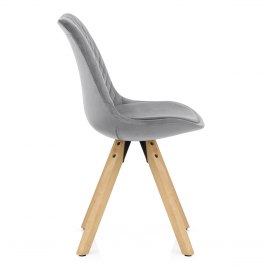 Prism Dining Chair Grey Velvet