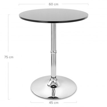 Soho Round Dining Table Black