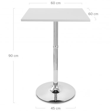 Sovereign Square Bar Table White