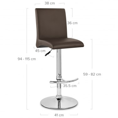 Deluxe High Back Stool Brown