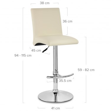 Deluxe High Back Stool Cream