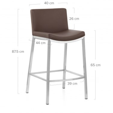 Capone Brushed Steel Stool Brown