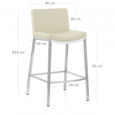 Capone Brushed Steel Stool Cream