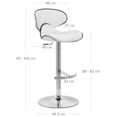 Deluxe Duo Real Leather Stool White