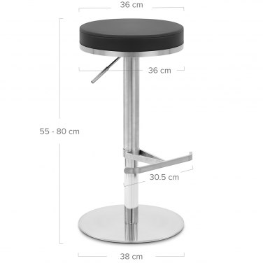 Oracle Brushed Steel Stool Black