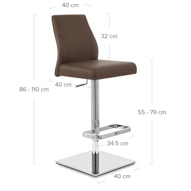 Martello Real Leather Stool Brown