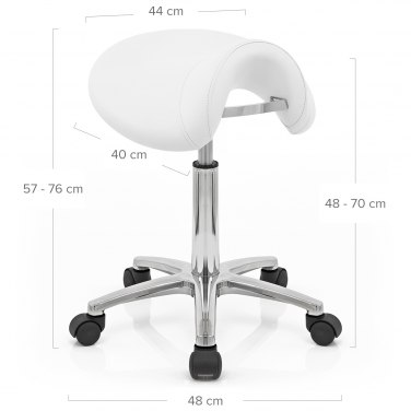 Deluxe Saddle Stool White