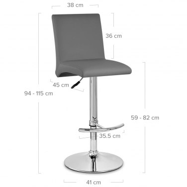 Deluxe High Back Stool Grey