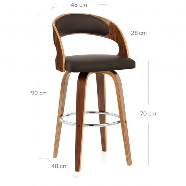 Alicia Walnut Bar Stool Brown