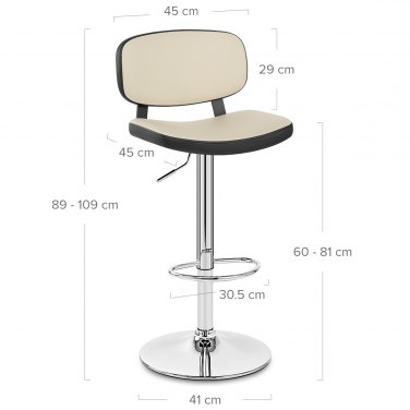 Edge Bar Stool Black Amp Cream Atlantic Shopping