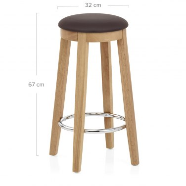ikon kitchen stool oak brown atlantic shopping. Black Bedroom Furniture Sets. Home Design Ideas