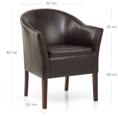 Monte Walnut Chair Brown Leather