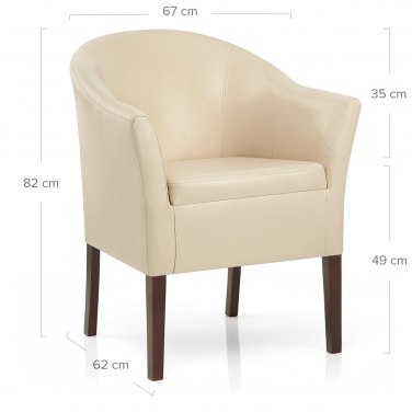 Monte Walnut Chair Cream Leather